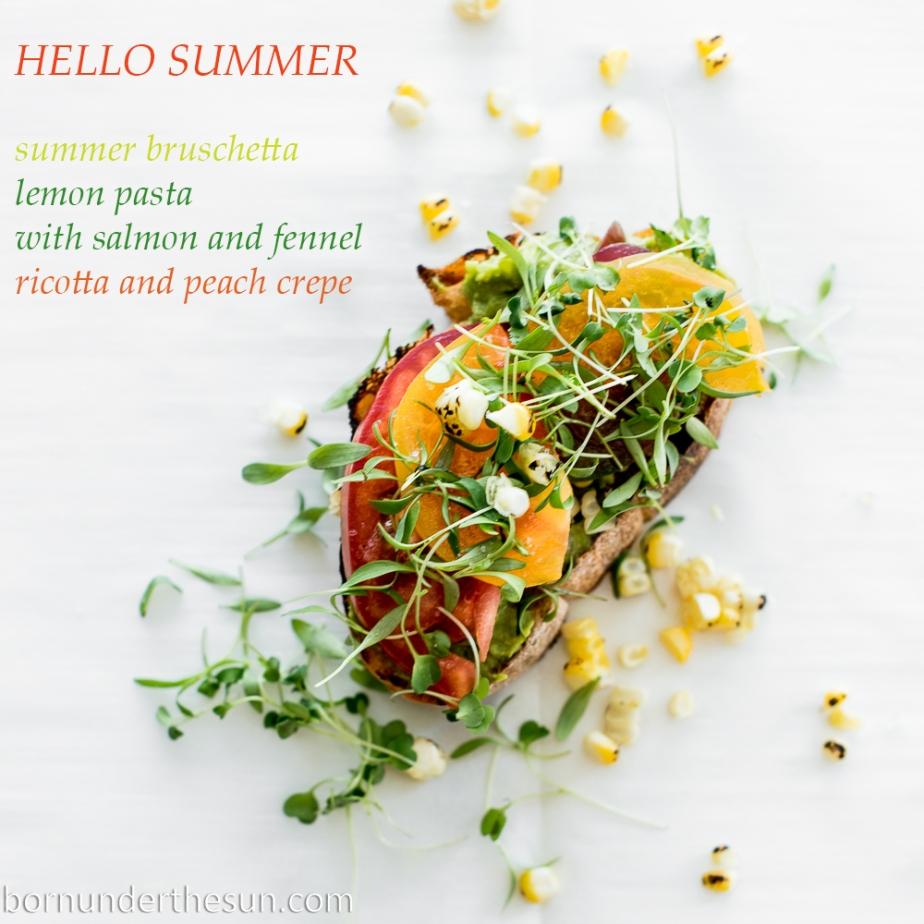 Summer bruschetta